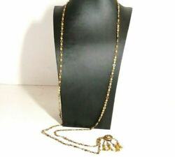 Long Necklace Vintage Years' 30 In Gold Solid 9k Antique Made In Italy