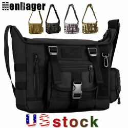 Men#x27;s Tactical Sling Shoulder Outdoor 14#x27;#x27; Laptop Messenger Military Travel Bag $23.55