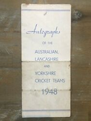 The 1948 Australian Invincibles AUTOGRAPHS + Lancashire & Yorkshire Cricket Team