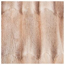 Fur Inner Lining Made From Recycled Musquash Light Brown