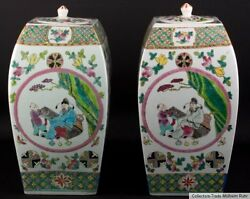China 19/20. Jh Pair Vases -a Pair Of Chinese Famille Rose Vases Cinese Chinois