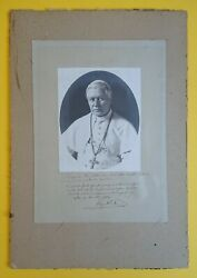Pope Pius X 1835-1914 - Signed Portrait With A Four-line Apostolic Benediction