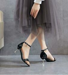 Womens Trendy Open Toes T-strap High Heels Sample Summer Sandals Shoes Outdoor F