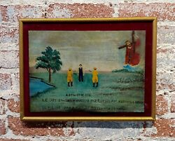 Mexican Revolution Folk Art -1918 Saved From The Firing Squad-oil Painting