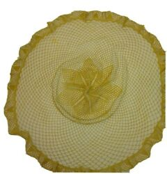 Antique Hand Crocheted Table Cloth 28 Diameter Not Flat More Rounded In Middle