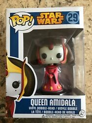 Funko Pop Star Wars 29 Queen Amidala Vinyl Bobble Head - Blue Box Vaulted