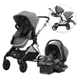 Pivot Xpand Modular Baby Travel System Car Seat And Stroller In Gray Or Black