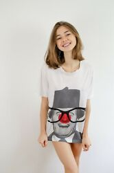 Stella McCartney Tommy Cooper T Shirt White Comic Relief Red Nose Day XS $25.00