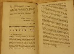 1752 - Remarks On The Life And Writings Of Dr Jonathan Swift - John Earl Of Orrery