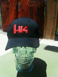 Official Heckler & Koch HK Logo Black Cap with Red Logo - FREE SHIPPING $17.99