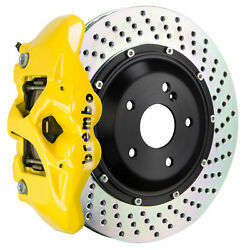 Brembo Gt Bbk For 11-18 Cayenne Turbo 958   Rear 4pot Yellow 2s1.9006a5