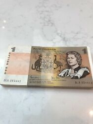 1982 1 Note X 100 With Uncirculated Consecutive Number 84001-84043 84443-84499
