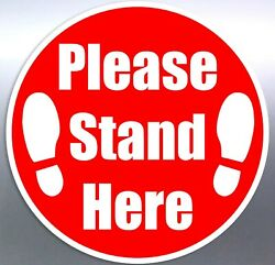 Please Keep Your Distance Stand Here Floor Sticker Decal Bulk Safe Social Space