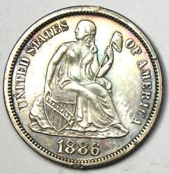 1886 Proof Seated Liberty Dime 10c Coin - Proof Detail Pf/ Pr - Rare Coin