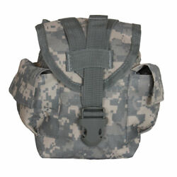 New Military Style Tactical Survival Molle 1 Qt Canteen Cover Pouch Acu Army Dig
