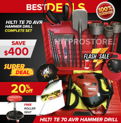 Hilti Te 70 Avr Hammer Drill, Preowned, Free Roller Seat, Extras, Fast Ship