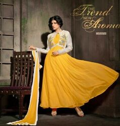 Latest Designer Party Wear Heavy Georgette Suit Long dress Anarkali style