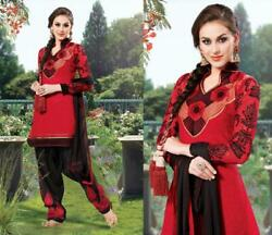 Latest Designer Party Wear cotton embroidery Suit patiyala punjabi indian dress