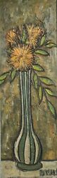 Phillipe Marchand Mid 20th Century Floral Still Life Oil Painting Signed