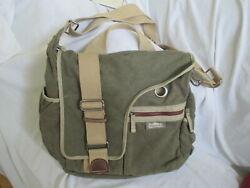 SIMPLE BRAND CANVAS LEATHER LAPTOP MESSENGER BAG