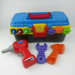 Vtech Drill And Learn Toolbox With Drill Hammer And Wrench