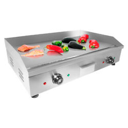 Flat Top Griddle | Teppanyaki Grill | Double Thermostat | No Plug | 29 X 18