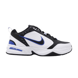 Nike AIR MONARCH IV Mens Black Blue White 002 Shoes Medium amp; WIDE WIDTH 4E EEEE $69.95