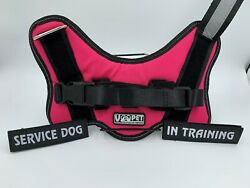 VOOPET No Pull Harness with Service Dog Tag Pink Small Dogs