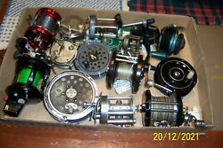 18 Vintage Fishing Reels All For One Price Sale Price Of 450.00 + Shipping