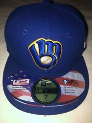 Milwaukee Brewers Usa American Flag Mlb New Era 59fifty Fitted Cap Hat Size 7