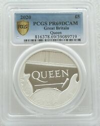2020 Royal Mint Music Legends Queen Andpound5 Silver Proof 2oz Coin Pcgs Pr69 Dcam