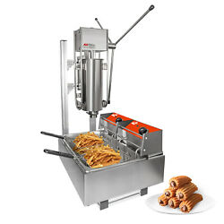 Churros Machine With Working Stand   Manual   Deep-fryer   Stainless Steel   5l