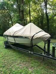 Lifetime Warranty 25-26 Ft Ski Or Bass Boat Cover By Cypress Rowe Outfitters