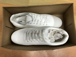 ASOS Design Lace Up Trainers In White Faux Suede With Gum Sole UK11 $23.99