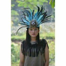 Wolf Head Turquoise Headdress Fur Apache Small Warbonnet Indian Native American
