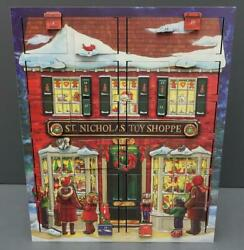 Byers Choice Traditions Musical Wooden Advent Calendar St. Nicholas Toy Shoppe