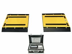 Optima Op-928-1624 Two Weigh Pads / Indicator And Printer/ 50000 Lbs X 20 Lb