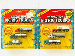 Unopened Micro Machines Size Frito Lay Mobil Tanker Big Rig Semi Truck Cabover