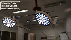 Ot Room Operating Light Led Ot Lamp Cold Light Surgery Double Dome Ceiling Lamp