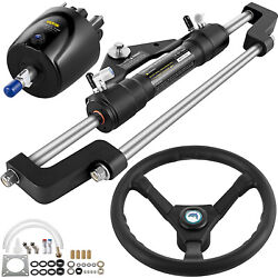 Hydraulic Outboard Boat Steering Kit Hk6400a-3 Marine Steering System Kit 300hp