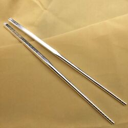 S999 Sterling Silver Tableware Luck Many 福 Fu Square Chopsticks 45g 21cml