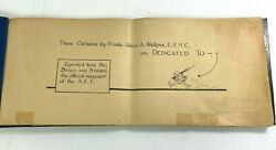 Wwi Stars And Stripes Cartoons By Private Abian K. Wallgreen Usmc Book