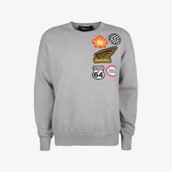 Dsquared2 Embroidered Patches Knit Sweater - Grey