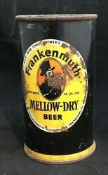 1940s Frankenmuth Keglined Flat Top S/s Straight Steel Beer Can. V49