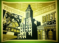 Shepard Fairey, Providence Industries Obey Giant Print Signed- R.i.s.d. Gold
