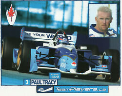 Paul Tracy Team Player's Racing Authentic 8 X 10 Promo Drivers Card
