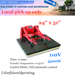 Ca 110v 24 X 31 Clamshell Large Format T-shirt Sublimation Heat Press Machine