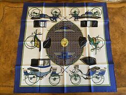 Hermès Silk Scarf - Carriages, Wheels, Horse And Buggy, Iron