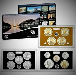 2013-s United States Silver 14 Coin Proof Set And Coa San Francisco Mint Bullion