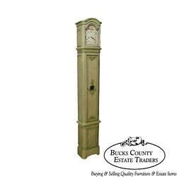 18th Century French Louis Xv Period Hand Painted Long Case Clock